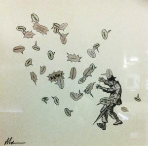 David Mach: Commando comic inspired art.