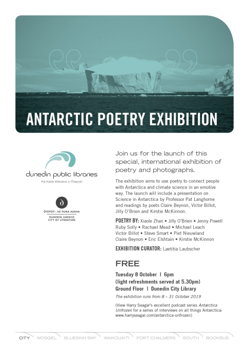 Antarctic Poetry Exhibition 2019 A4