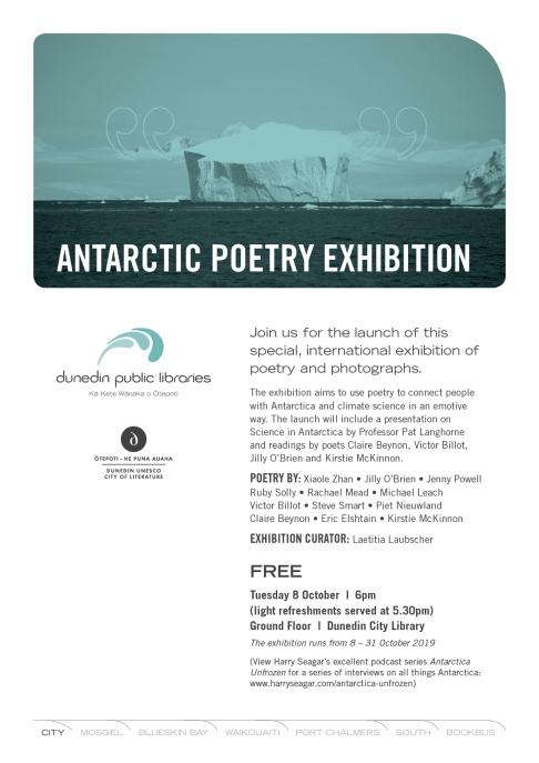 Antarctic Poetry Exhibition 2019 A4